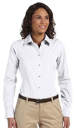 Chestnut Hill Ladies Executive Performance Broadcloth - WHITE - M (White Broadcloth)