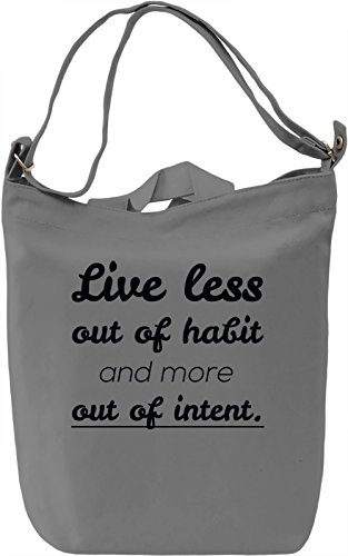 Live out of Intent Borsa Giornaliera Canvas Canvas Day Bag| 100% Premium Cotton Canvas| DTG Printing|