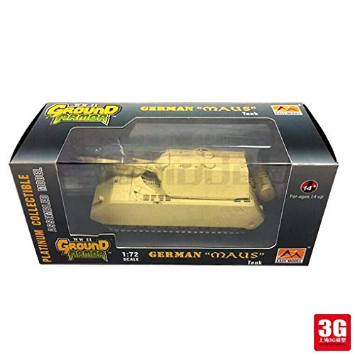Diecasts & Toy Vehicles - Easy Model 1/72 Scale Miniature Military 36206 Scale Tanke Vehicle German MAUS Tank Assembled Model Scale Military Toys - by SINAM - 1 PCs