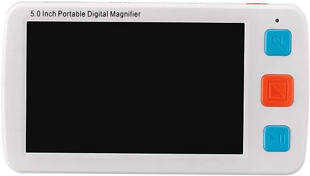 4X-32X Zoom Fambasis Elektronische Leselupen 5 zoll 17 Farbmodi Digitale Lupe mit geringer Sehsch/ärfe 2500 ml Batterie Arbeitszeit /über 4 Stunden