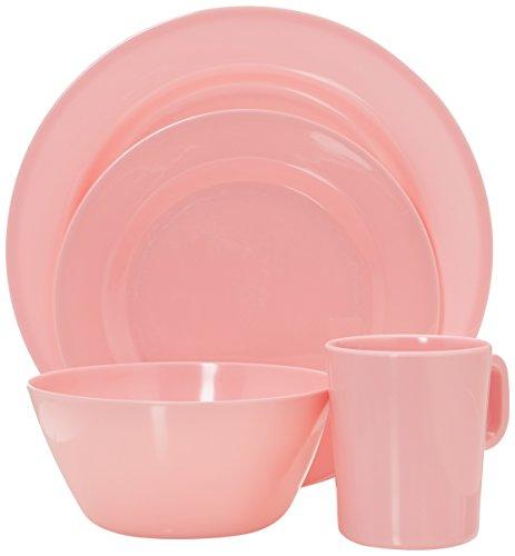 Francois et Mimi 16 Piece Melamine Dinnerware Set (Pink)
