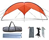 other persons wish list - Zoophyter 15.7 x 15.7 ft Beach Sun Shade Shelter Canopy Tent, With Guy Line & Stake Kit For Wind Condition (Orange)