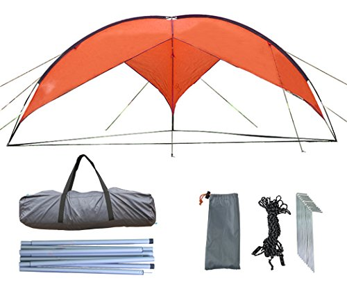 Zoophyter 15.7 x 15.7 ft Beach Sun Shade Shelter Canopy Tent, With Guy Line & Stake Kit For Wind Condition - Australian Shades