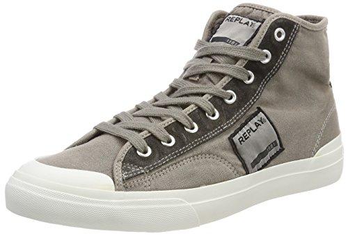 REPLAY Radio, Sneaker a Collo Alto Uomo Grigio (Grey)