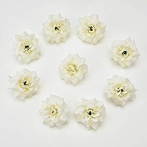 fake flowers heads Artificial Flowers Small Tea Bud Simulation Small Tea Rose Silk Flower Decoration Flower Head DIY Accessories 30pcs 4.5cm 52