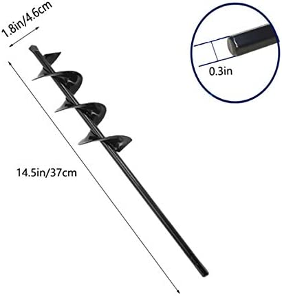 Auger Drill Bit for Planting Bulb Auger, 1.8 X 15 In Bulb Planter Tool Garden Drill Planter Bulb Auger for Cordless Drill, Spiral Hole Drill Planter Planting Earth for 3/8 Inch Hex Drive Drill Earth