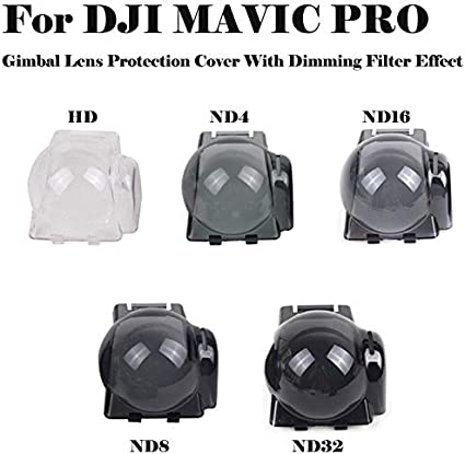 Color : Color2 CAOMING Gimbal PTZ ND4 Dimming Protective Case Camera Lens Cover for DJI Mavic Pro Durable