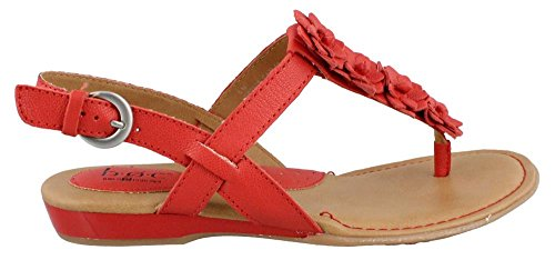 B.O.C. Mujer Piel Sandalias de Sonora Rojo