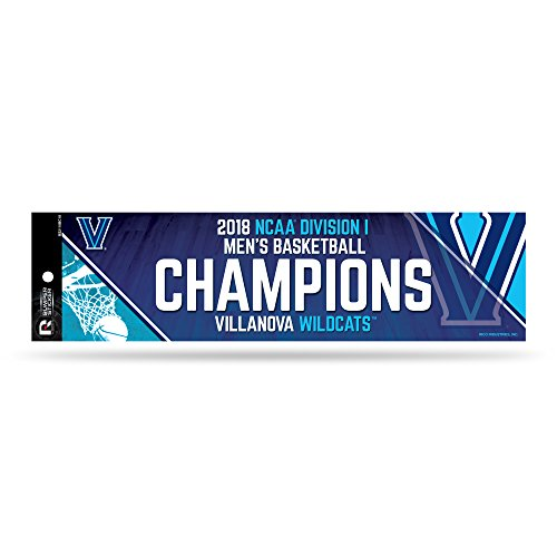 Rico Villanova Wildcats Official NCAA 12'' x 3'' 2018 National Championship Bumper Sticker Strip Decal by 386021 by Rico