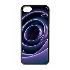 XiFu*MeiIPhone 5C Case, Elegant Purple Spiral Case for IPhone 5CXiFu*Mei