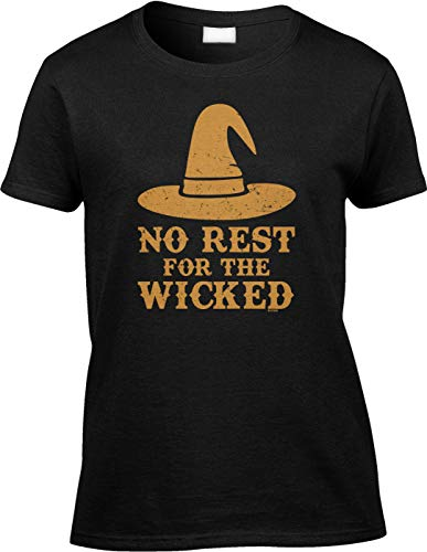 Blittzen Womens/Ladies No Rest for The Wicked - Halloween, S, Black]()