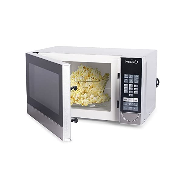 Premium PM70710 0.7 Cu. Ft. Counter Top Microwave Oven, Stainless Steel 6