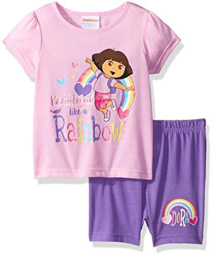 Nickelodeon Toddler Girls' Dora The Explorer 2-Piece Pajama Set, Dora Pink, (Dora The Explorer Girls)
