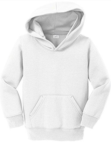 (Joe's USA - Toddler Hoodies - Soft and Cozy Hooded Sweatshirt,White,3T)