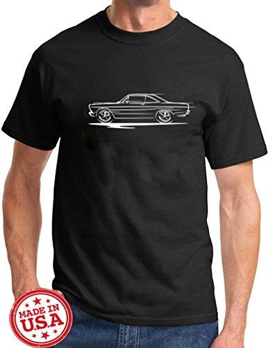 1966 1967 Ford Fairlane Coupe Redline Series Outline Design Tshirt large -