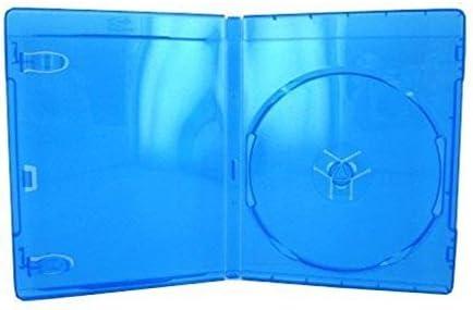 10 azul funda para Blu-ray DVD de película caja de disco CD, doble capacidad del disco con licencia Sony Blu-ray Logo: Amazon.es: Electrónica