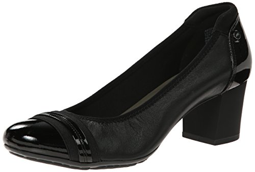 Anne Klein Sport Women's Guardian Leather Dress Pump, Black, 7.5 M US