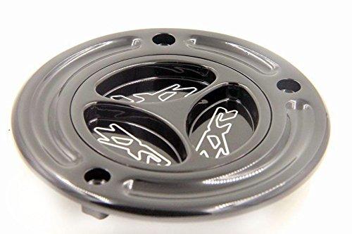 NBX- Black Keyless Gas Cap Twist Off Aluminum Racing Fuel Tank Cap For Kawasaki ZX-14R/ ZZR1200 /ZRX1200R /Z1000 /ZX-10R /ZX-9R /ZX-6RR /ZX-6R Xingmoto