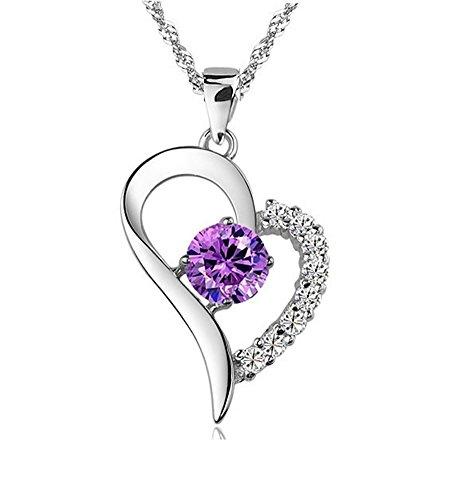 Sterling Amethyst Pendant Necklace Joyfulshine product image