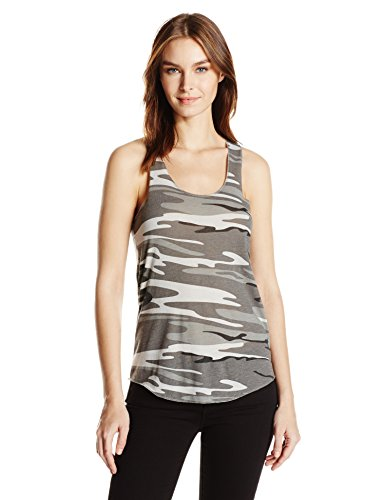 Alternative Meegs Racer - Playera sin Mangas para Mujer, Camuflaje Gris, M
