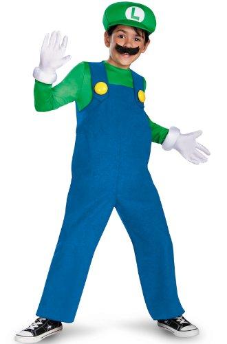 Disguise Boy's Nintendo's Super Mario Brothers Luigi Deluxe Costume, 10-12