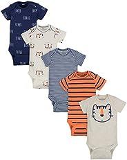 Gerber baby-boys 5-pack Variety Onesies Bodysuits Footie