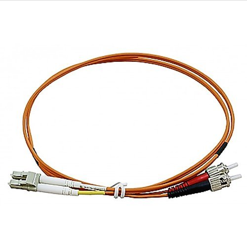 CAVO FIBRA OTTICA - BRETELLA - PATCH CORD LC ST MULTIMODE DUPLEX ORANGE 62/125 OM1 MT. 3 fibrefab