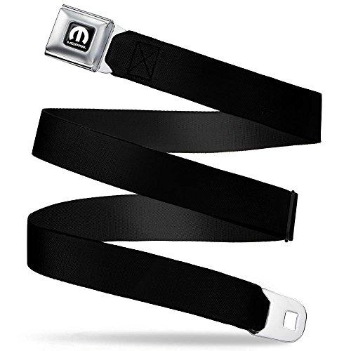 Buckle-Down Seatbelt Belt Mopar Black Regular
