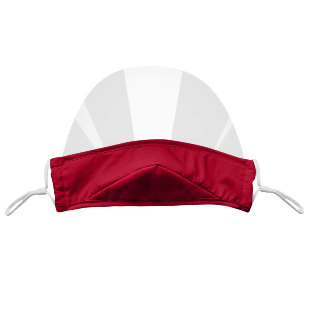 1pc Mini Shield Washable Reusable Comfortable Bandanas Transparent Visual Shield