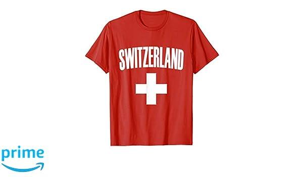 Amazon.com  Switzerland Soccer Jersey 2018 - Swiss Pride T-Shirt  Clothing c871e552f