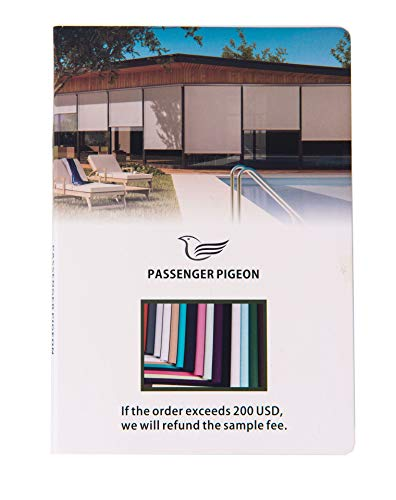 Fabric Color Samples - PASSENGER PIGEON Window Roller Shades Fabric Swatch Sample, 13 Colors in One Catalog