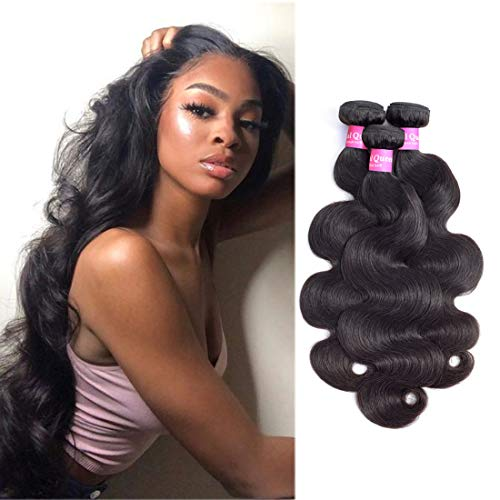Original Queen Brazilian Body Wave 100% Unprocessed Virgin Human Hair 8A Grade 3 Bundles Weaves Natural Color 14 16 18 Inches