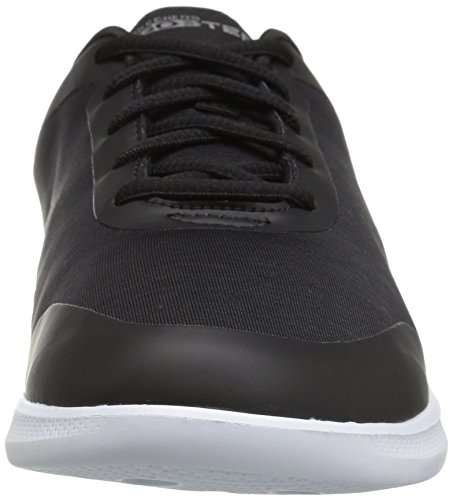 Skechers Performance Women's Go Step Lite Lace-up Walking Shoe Black/White Heather f84VH2aB