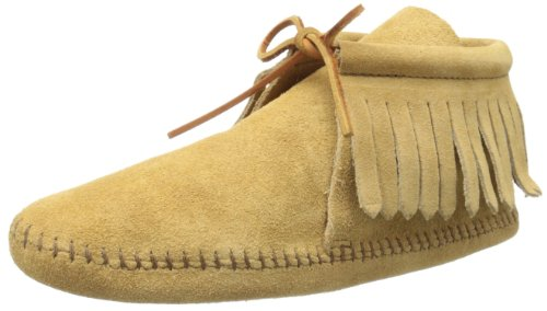 Minnetonka Women's Classic Fringe Boot,Softsole Tan,5 M US ()