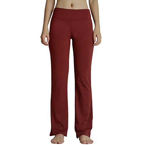 Sunfan Women's Bootcut Yoga Pants Long Bootleg Flare Pants, Hidden Pocket