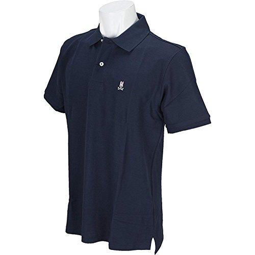 サイコバニー PSYCHO BUNNY 半袖シャツ?ポロシャツ 半袖ポロシャツ ネイビー S