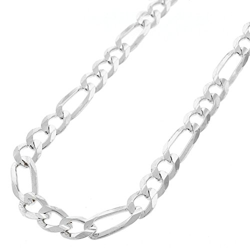 Sterling Silver Italian 7mm Figaro Link ITProLux Solid 925 Necklace Chain 18