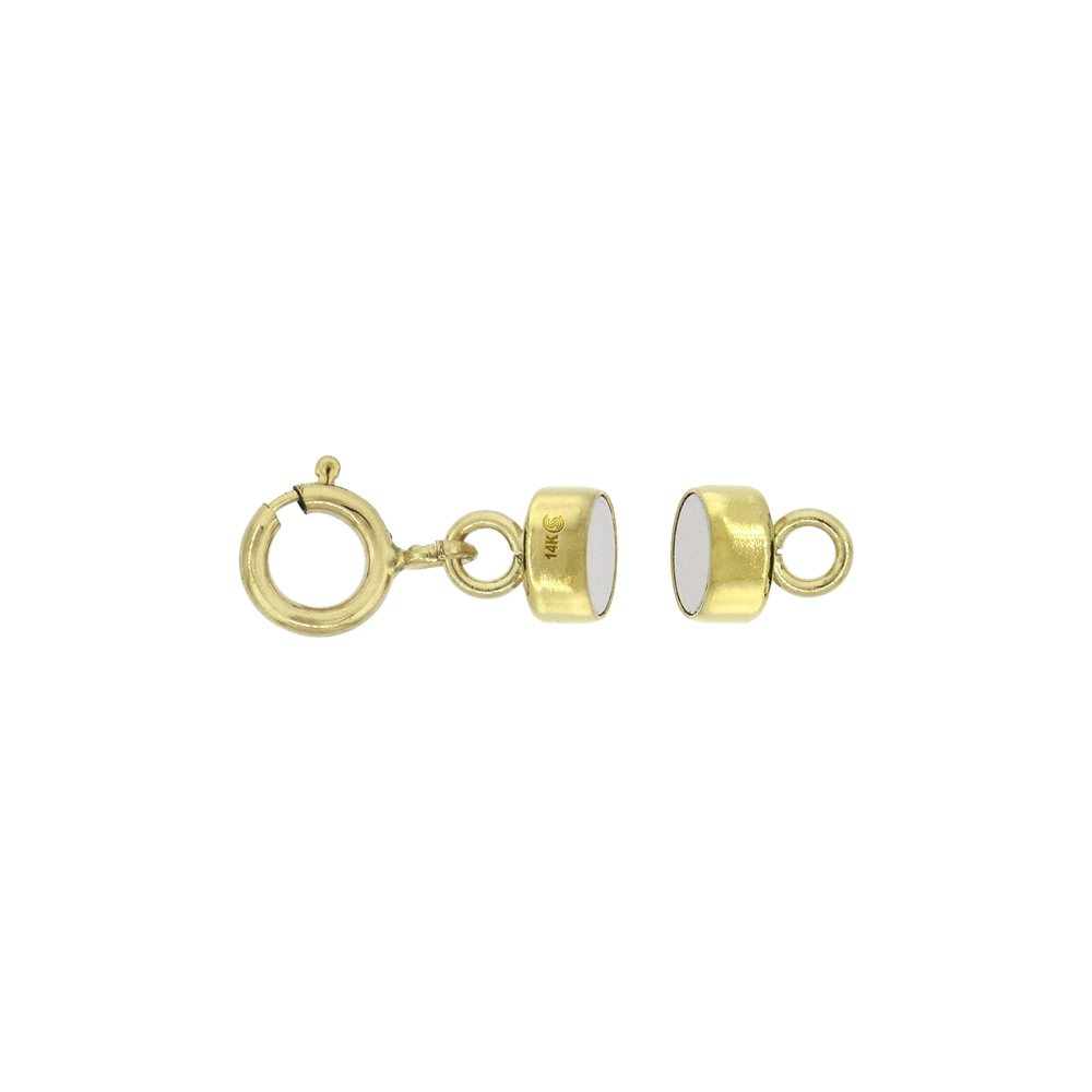 3 PACK 14k Gold 4 mm Magnetic Clasp Converter for Light Necklaces USA, Square Edge by Sabrina Silver (Image #2)