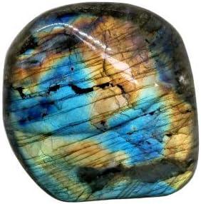 lithoth/érapie Eusice 329g, Multicolores Labradorite forme libre de qualit/é extra AAA+ Pierre bien-/être 100/% naturelle