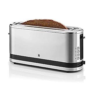 WMF Küchenminis Toaster Langschlitz mit Brötchenaufsatz, 900 W, XXL Toastscheiben, 7 Bräunungsstufen, Bagel-Funktion, Toaster edelstahl matt 1