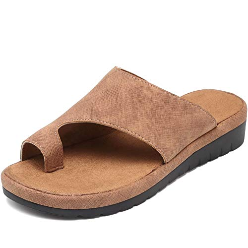 VANDIMI Platform Sandal Shoes for Women Summer Beach Travel Shoes Comfortable Fashion Slides Light Weight Thong Sandals