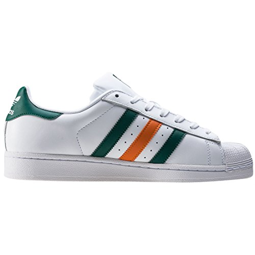 adidas Superstar White Green Orange Bianco