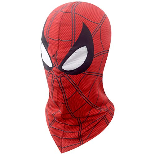 2018 Movie Spider-Man Cosplay Mask Red Lycra Flexible Breathable Full Head Hood Halloween -
