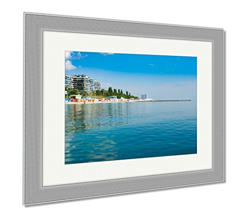 Ashley Framed Prints Panama City Beach Water Ocean USA Shore Many, Wall Art Home Decoration, Color, 26x30 (frame size), Silver Frame, - Silver Beach City Panama Sands