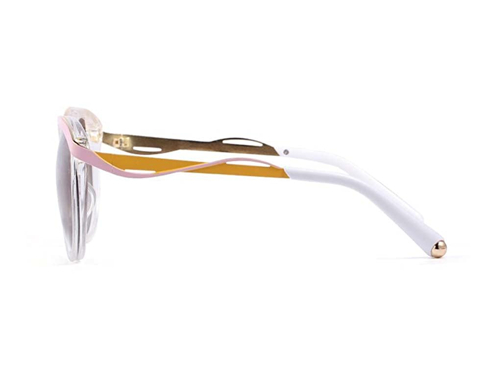c0ed55aa96 Amazon.com  TELAM Clear-pink-yellow Metaleyes1 Butterfly Sunglasses Lens   Clothing