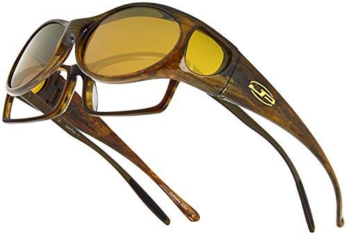 Aurora JP Fitovers - Brown Marble - Yellow Lens - Lens Aurora Brown