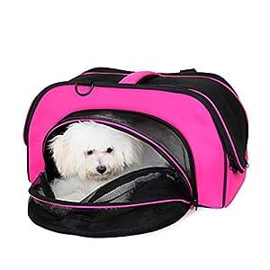 YAMEIJIA Gato/Perro Transportines Y Mochilas De Viaje Mascotas Portadores Portátil/Mantiene Abrigado/Plegable Un Color Amarillo/Fucsia /