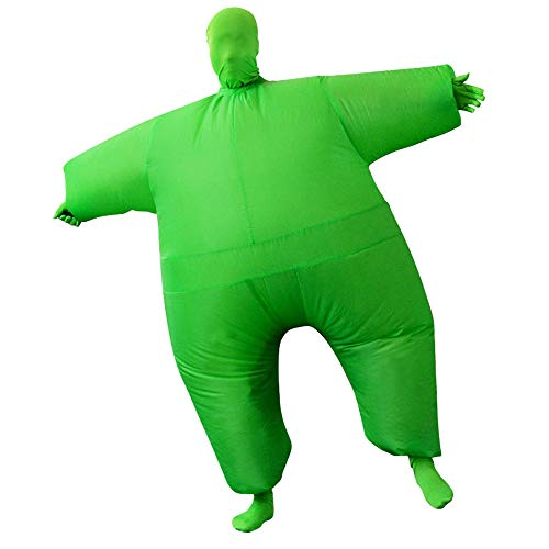 SIREN SUE Adult Inflatable Full Body Jumpsuit Cosplay Costume Halloween Blow Up for Party Toy Green]()