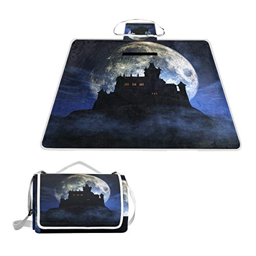 imobaby Halloween Spooky Castle Picnic Blanket Mat, Extra