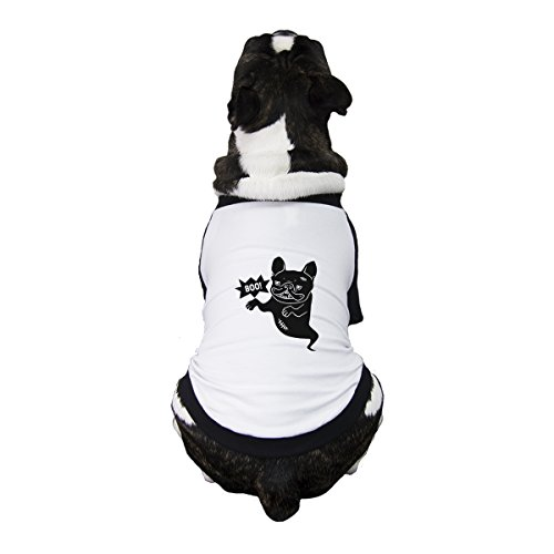 365 Printing Boo French Bulldog Baseball Shirt Funny Halloween Dog T-Shirt -